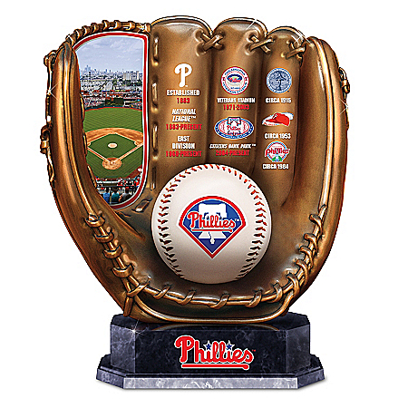 Phillies Cold Cast Bronze Commemorative Baseball Glove Sculpture: 1 of 5000
