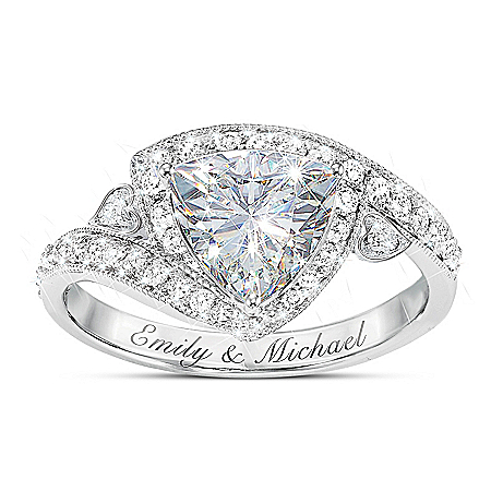 Once In A Lifetime Women's Personalized Diamonesk Ring – Personalized Jewelry