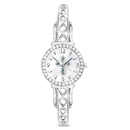 Heavenly Grace Crystal Watch Featuring Mother Of Pearl