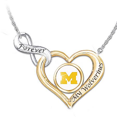 Forever My University Of Michigan Women's Diamond Necklace