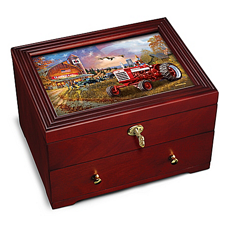 The Farmall: Family Tradition Custom-Crafted Wooden Keepsake Box