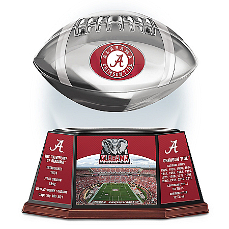 Crimson Tide Levitating Football Sculpture Lights Up and Spins: 1 of 5000