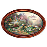 Thomas Kinkade Love Makes A House A Home Personalized Collector Plate