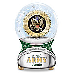 Proud U.S. Army Family Musical Glitter Globe