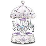 Daughter, I Wish You Heartfelt Wishes Illuminated Carousel Music Box