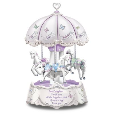 Bradford Exchange Daughter, I Wish You Heartfelt Wishes Illuminated Carousel