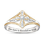 Faith In Our Love Religious Women's Personalized Diamond Ring