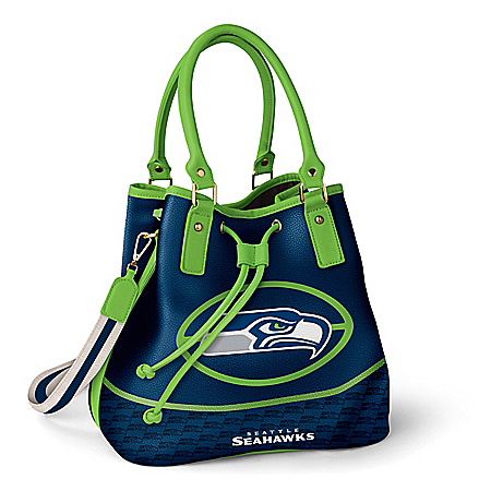 Seattle Seahawks Women's NFL Bucket-Style Handbag