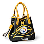 Pittsburgh Steelers Women's NFL Bucket-Style Handbag
