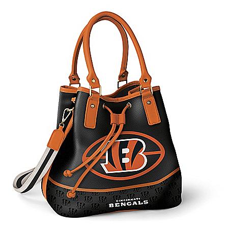 Cincinnati Bengals Women's NFL Bucket-Style Handbag