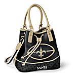 New Orleans Saints Women's NFL Bucket-Style Handbag