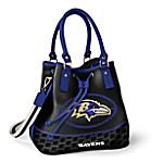 Baltimore Ravens Women's NFL Bucket-Style Handbag