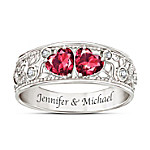 Heart To Heart Women's Personalized Diamond Ring