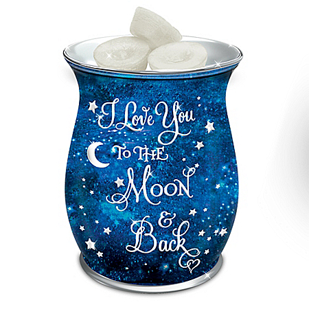 I Love You To The Moon And Back Porcelain Wax Warmer