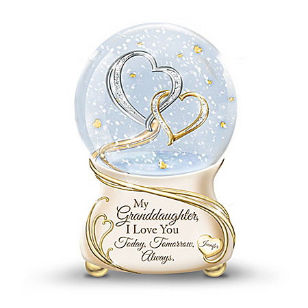 My Granddaughter, I Love You Always Personalized Glitter Globe