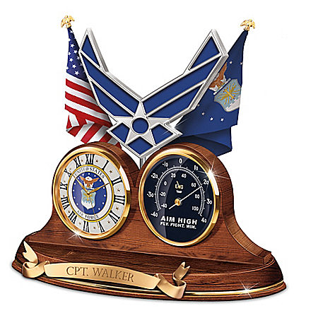 U.S. Air Force Values Personalized Thermometer Clock