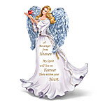 Forever With You Figurine Illuminated Crystal Winged Angel Figurine
