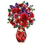 Endless Romance Illuminated Always In Bloom Personalized Bouquet Table Centerpiece