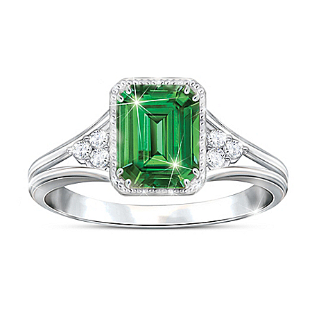 Photo of Beauty Of Helenite Women's Statement Ring by The Bradford Exchange Online