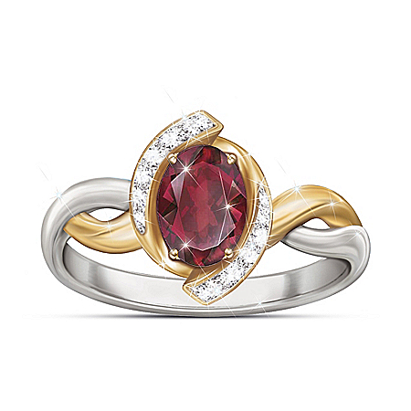 Magnificent Merlot Women's Garnet Ring