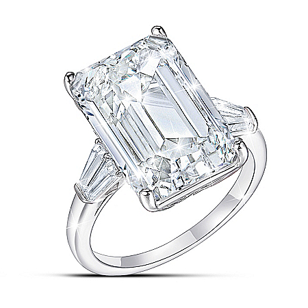 Perfection Women's Emerald Cut Diamonesk Ring