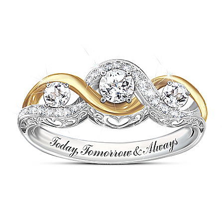 I Love You Always Women's Topaz Ring
