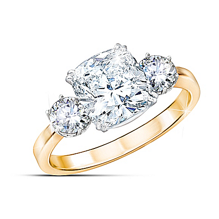Royal Love Women's Sterling Silver Diamonesk Ring