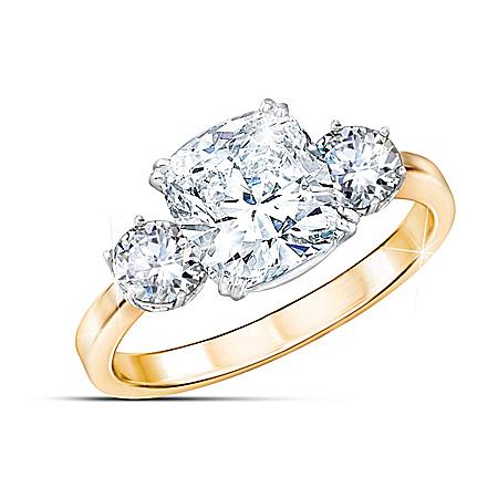 Meghan Markle Engagement-Inspired Ring: Royal Love 8-Carat Diamonesk Ring
