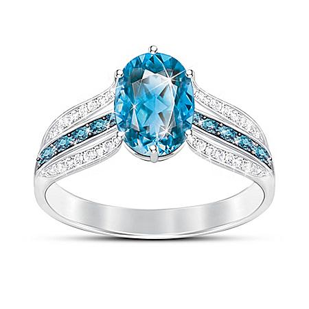 Twilight Luster Women's Topaz Ring