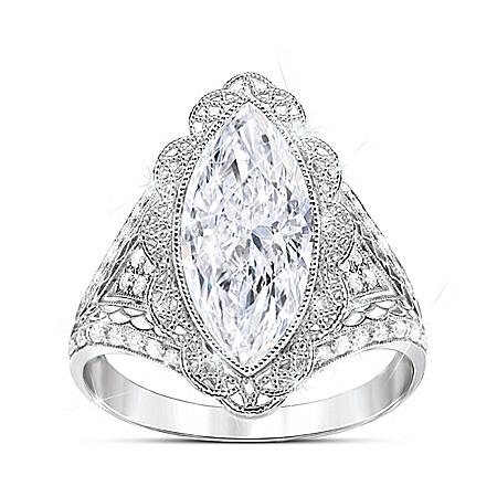 Duchess Women's Diamonesk Ring by The Bradford Exchange Online - Lovely Exchange