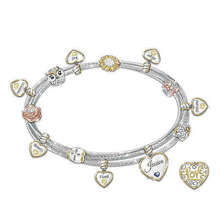 Wishes For My Daughter Personalized Birthstone Charm Bracelet – Personalized Jewelry