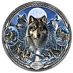 James A. Meger Twilight Guardians Wolf Heirloom Porcelain Collector Plate