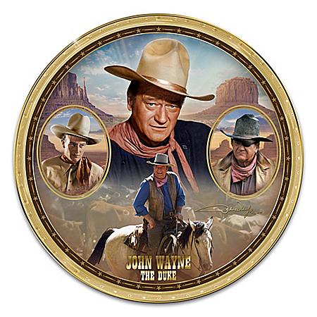 John Wayne: The Duke Heirloom Porcelain Collector Plate by The Bradford Exchange Online - Lovely Exchange