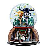TO THE BATMOBILE Rotating Musical Glitter Globe