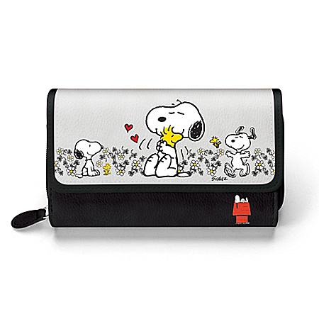 PEANUTS Happiness Is Friendship Women's Tri-fold Wallet by The Bradford Exchange Online - Lovely Exchange