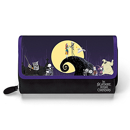 Disney Tim Burton's The Nightmare Before Christmas Women's Tri-fold Wallet by The Bradford Exchange Online - Lovely Exchange