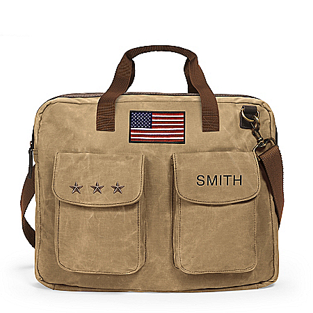 Photo of U.S.A. Pride Personalized Canvas Tote Bag by The Bradford Exchange Online