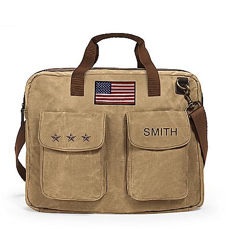 U.S.A. Pride Personalized Canvas Tote Bag
