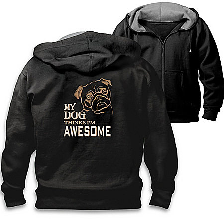 Man's Best Friend Men's Cotton-Blend Knit Hoodie