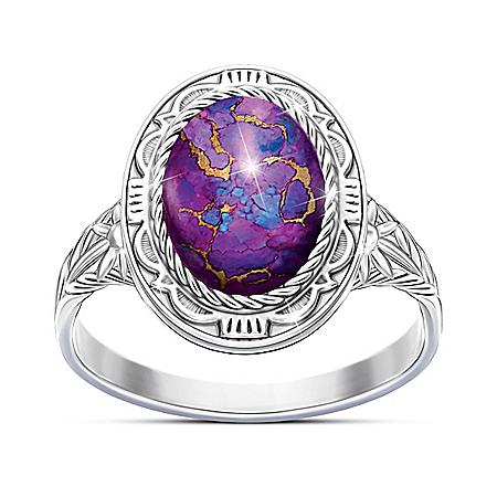 Santa Fe Sunrise Women's Purple Mojave Turquoise Ring
