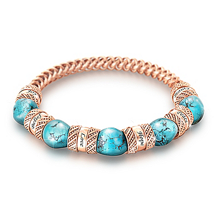 Touch Of Heaven Healing Women's Turquoise & Copper Bracelet