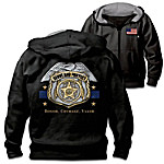 Serve And Protect Men's Police Easy-Care Cotton Blend Knit Hoodie