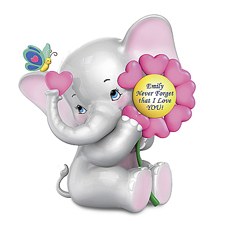 Personalized Musical Elephant Figurine For Granddaughters