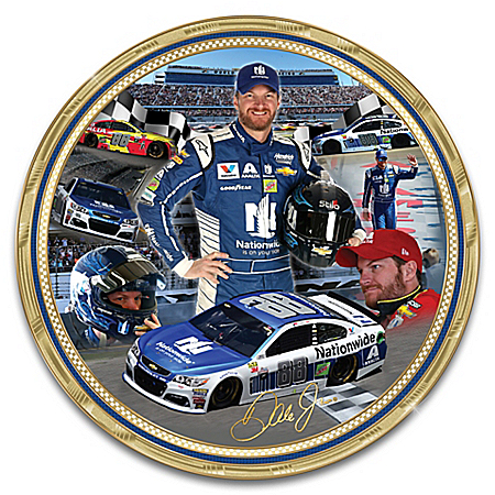 Dale Earnhardt Jr. NASCAR Heirloom Porcelain Collector Plate by The Bradford Exchange Online - Lovely Exchange