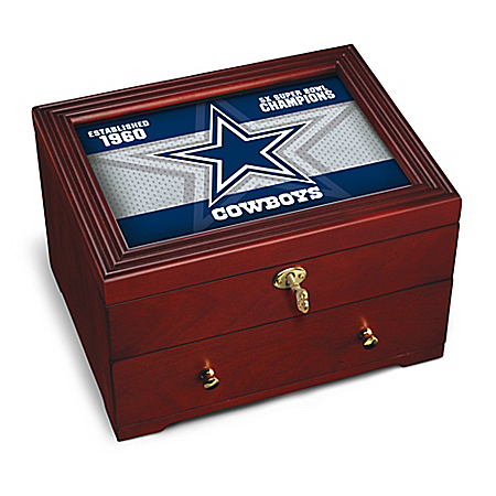 Dallas Cowboys NFL Custom-Crafted Wooden Strongbox