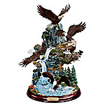 Mountaintop Majesty Hand-Painted Eagle Sculpture