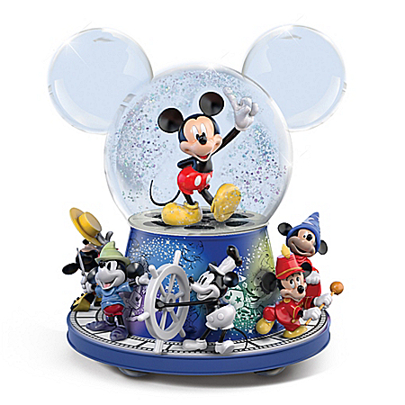 Disney Mickey Mouse Rotating Glitter Globe