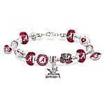 Go Alabama Crimson Tide 2017 Football National Champions Women's Charm Bracelet