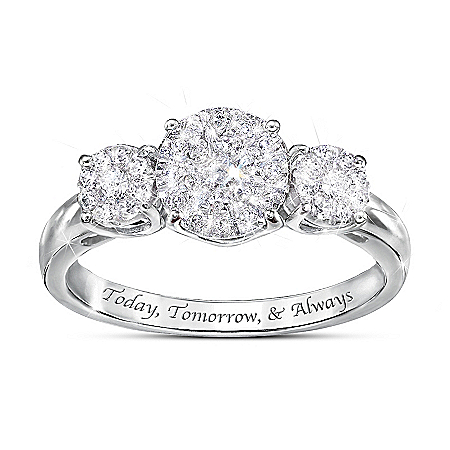 Miracle Of Love Women's Diamond Ring by The Bradford Exchange Online - Lovely Exchange