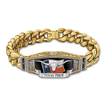 Texas Pride Men's Stainless Steel Bracelet
